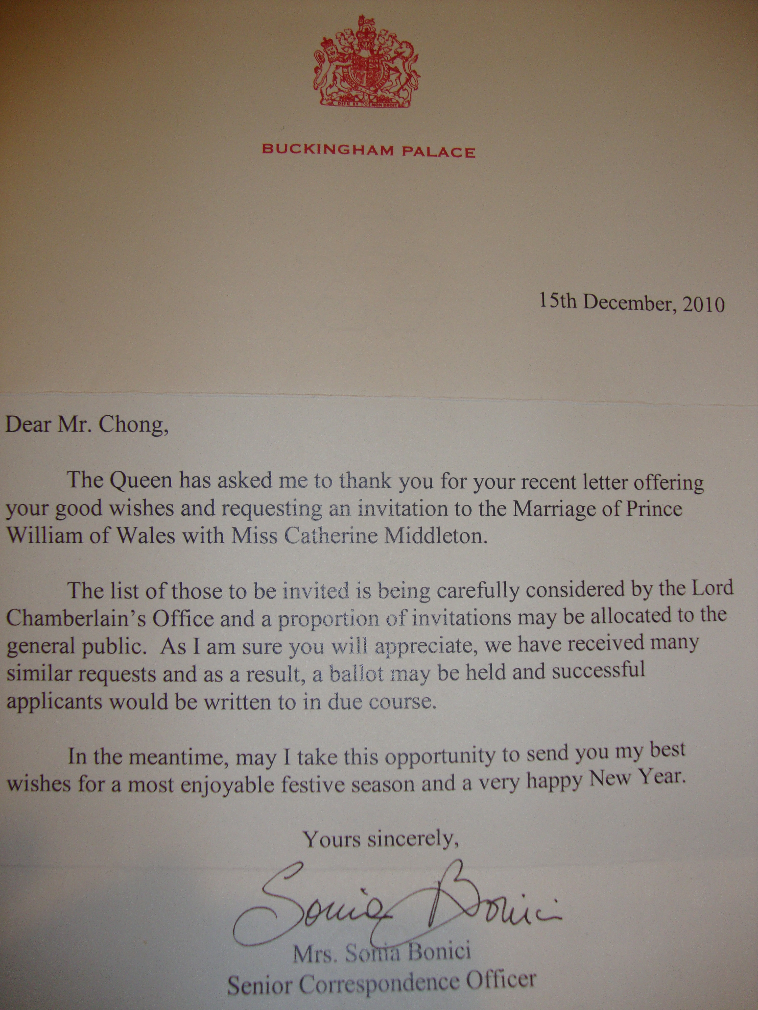 thank you for considering me letter this my thank you note to letter from the queen